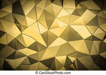 háromszög, render, fém, háttér, mózesi, 3