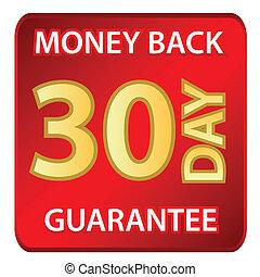 hát, pénz, 30, napok, garantál