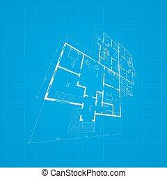háttér., építészeti, vector.