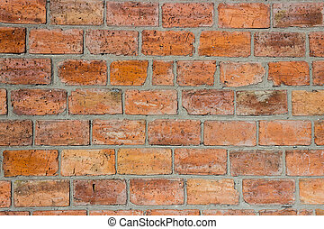 háttér, alapján, egy, tégla, wall., téglafal, elkészített, közül, piros, nagy, brick.