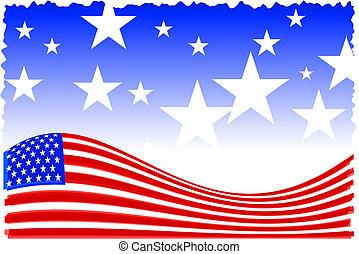 háttér, amerikai, patrióta