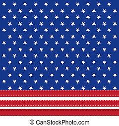 háttér, amerikai, symbolizing, lobogó, 4, csillaggal díszít, július, nap, szabadság
