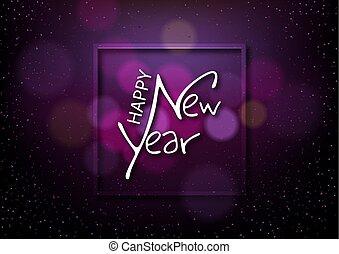 háttér, boldog, hatás, új, bokeh, sötét, év
