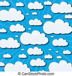 háttér, clouds.