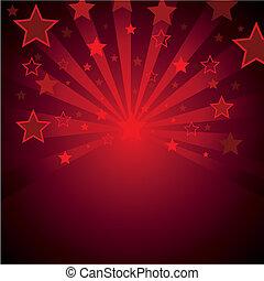 háttér, csillaggal díszít, piros