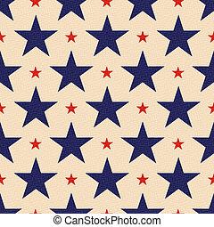 háttér, csillaggal díszít, seamless, hazafias