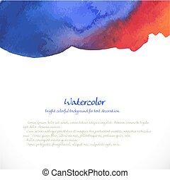 háttér, dekoráció, kék, vízfestmény