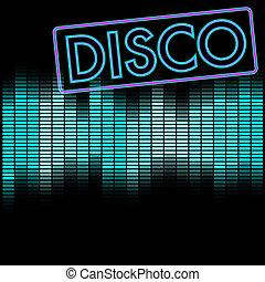 háttér, disco