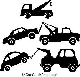 háttér, elszigetelt, kóc, fehér, ikon, autó