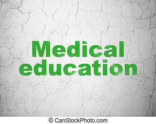 háttér, fal, orvosi, tanulás, oktatás, concept: