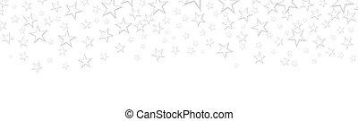 háttér, fehér, konfetti, transzparens, esés, kártya, csillaggal díszít, születésnap