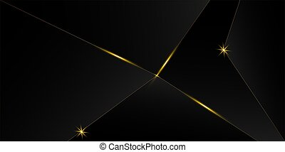 háttér., fekete, új, arany, fényűzés, ünneplés, banner., év, karácsony