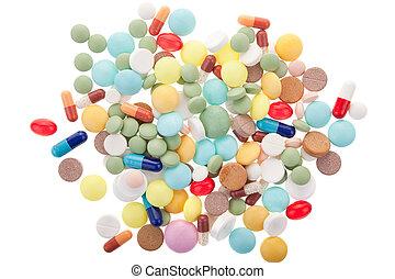 háttér, gyógyszertár