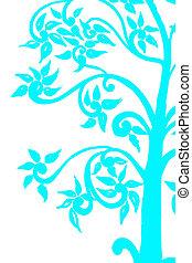 háttér, képben látható, a, fa, ég blue