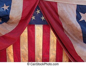 háttér, közül, zászlók