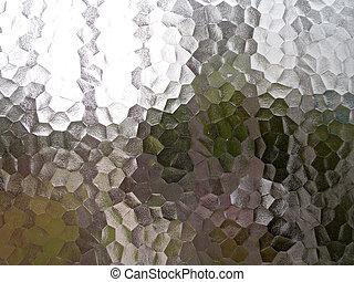 háttér, külső megjelenés, jégvirágos üveg, befest, jég, multible, látott, ötszög, vagy, áttetsző
