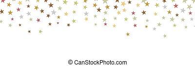 háttér, konfetti, transzparens, esés, kártya, csillaggal díszít, születésnap