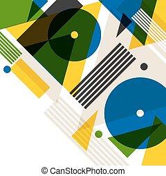 háttér, noha, rio, alatt, elvont, geometriai, style., tervezés, helyett, befed, természetjáró brochure, hirdetés, transzparens