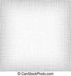 háttér, noha, threads., white szürke, linen., vektor, ábra