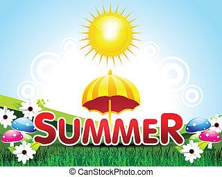 háttér, nyár, elvont