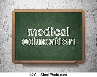háttér, orvosi, chalkboard, tanulás, oktatás, concept: