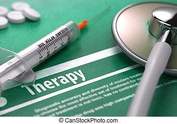 háttér., orvosi fogalom, zöld, therapy.