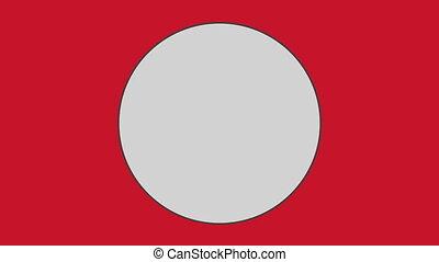 háttér, piros, ellen, karika