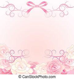 háttér, rózsa