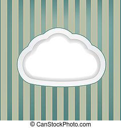 háttér, retro, felhő