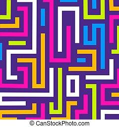 háttér, színes, útvesztő