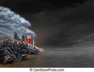 háttér, szennyezés