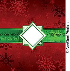 háttér., vektor, karácsony, piros