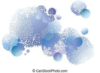 háttér, vektor, tél