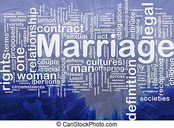 házasság, háttér, fogalom