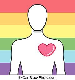 házasság, same-sex, jelkép, egyenlőség, diadal