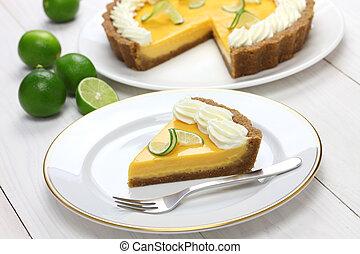 házi készítésű, pite, kulcs, lime