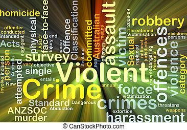 häftigt brott, bakgrund, begrepp, glödande