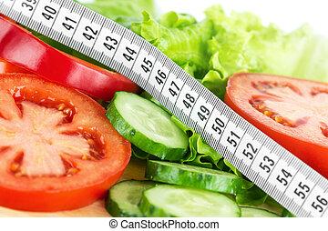 hälsosam, begrepp, livsstil