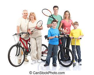 hälsosam, fitness, gymnastiksal, livsstil