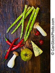 hälsosam, grönsaken, ännu, organisk, liv