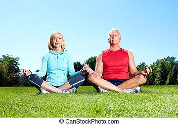 hälsosam, gymnastiksal, Livsstil,  fitness
