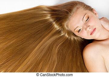 hälsosam, hår