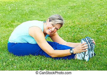 hälsosam, lifestyle., fitness