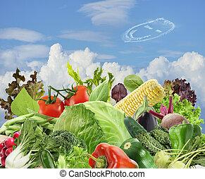 hälsosam, mat,  vegetarian