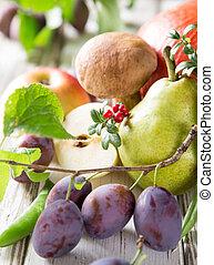 hälsosam, organisk, grönsaken