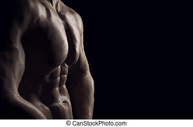 hälsosam, prålig, muskulös,  man