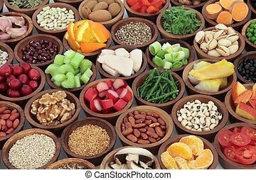 hälsosam, toppen, mat, kollektion