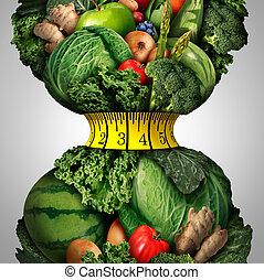 hälsosam, viktförlust, kost