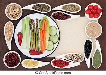 hälsosam, viktförlust, mat