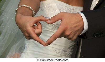 hände, paar, wedding